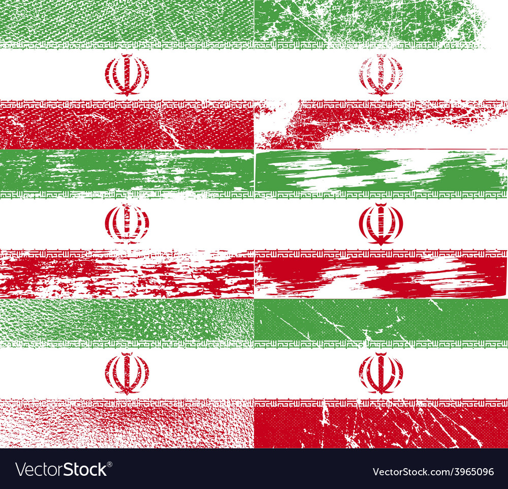 Flag of iran with old texture vector   Price: 1 Credit (USD $1)