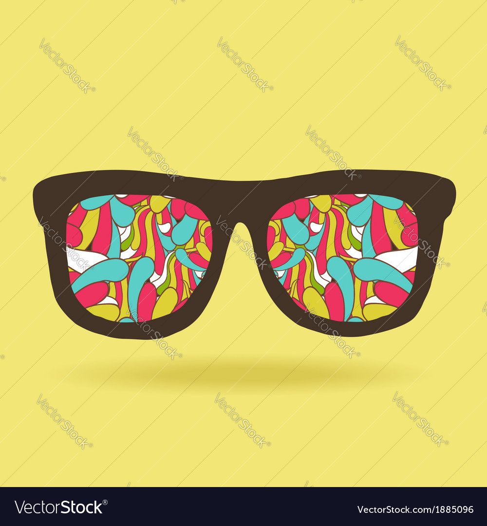 Funny doodle hipster glasses with pattern vector | Price: 1 Credit (USD $1)