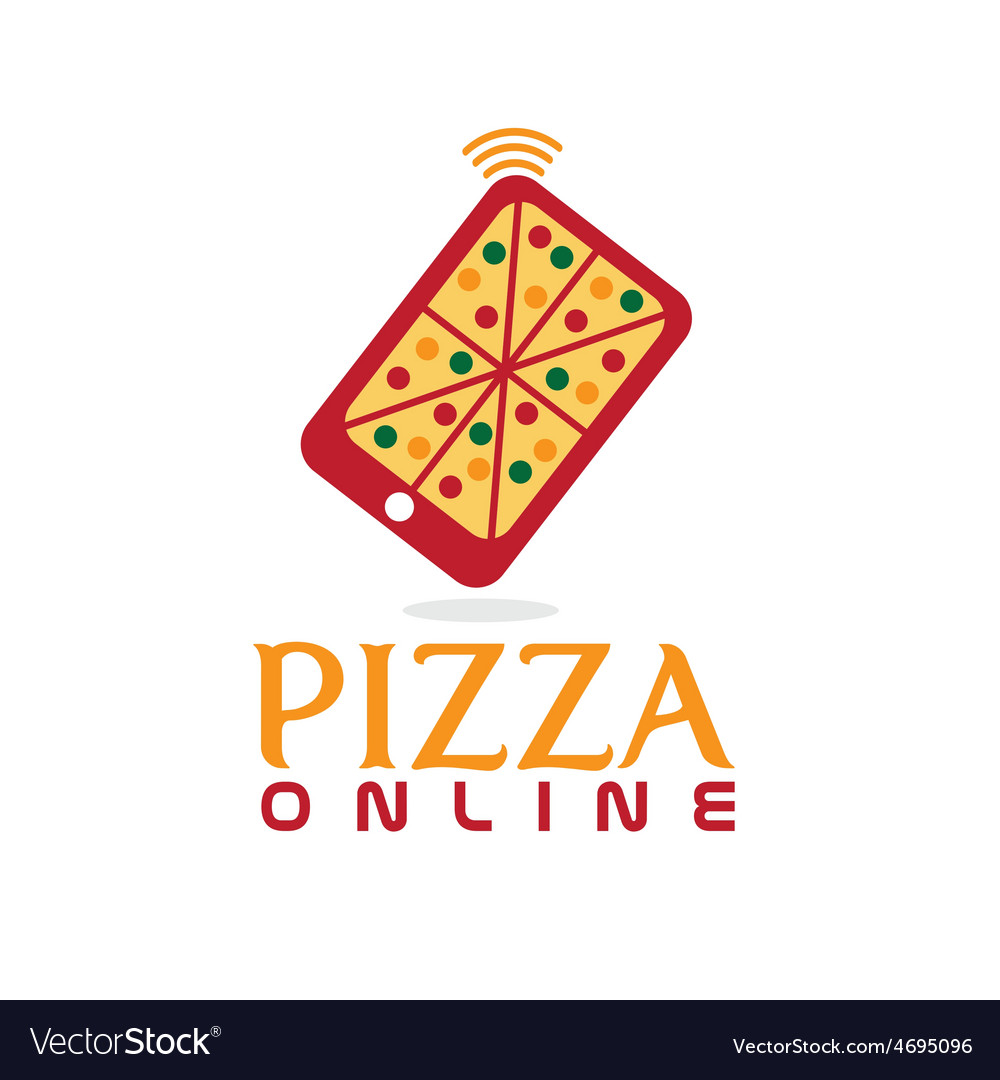 Pizza online concept flat design vector | Price: 1 Credit (USD $1)