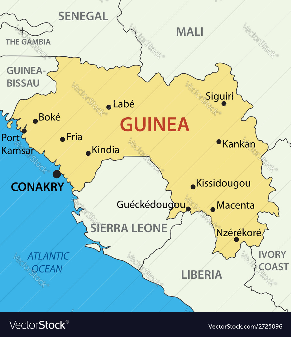 Republic of guinea - map vector | Price: 1 Credit (USD $1)
