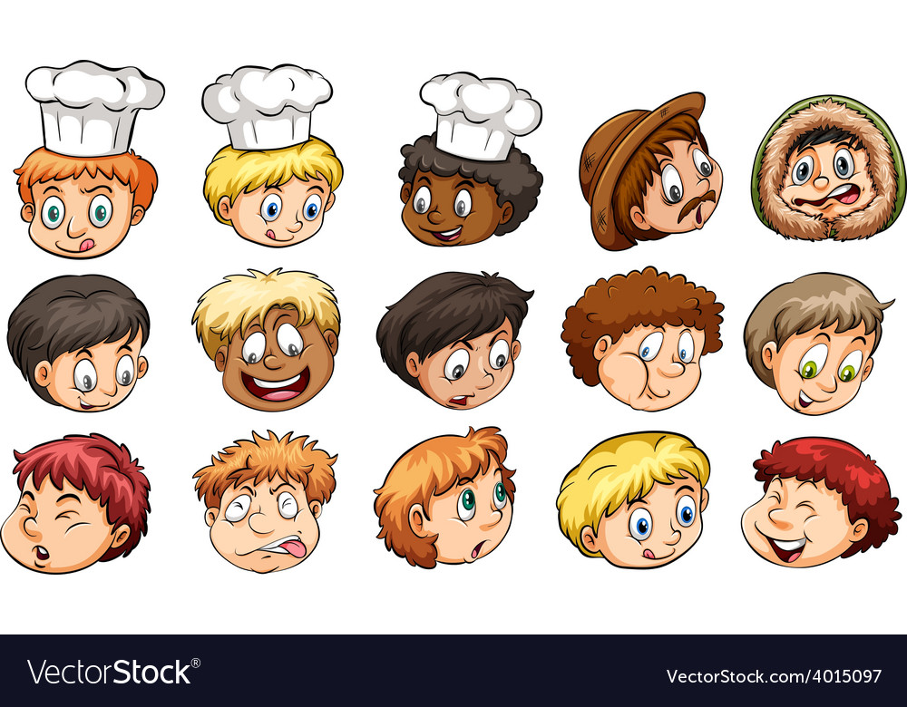 A group of faces vector | Price: 3 Credit (USD $3)