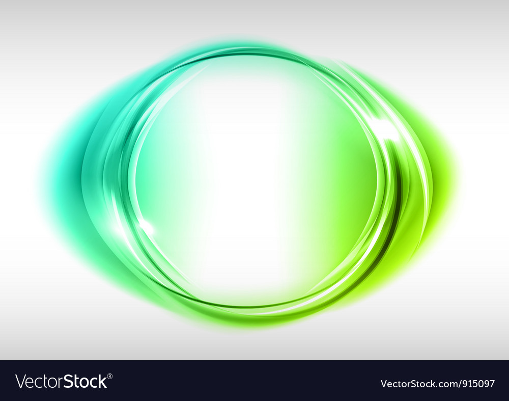 Abstract round on white green vector | Price: 1 Credit (USD $1)