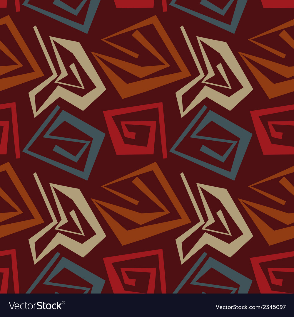 Abstract seamless pattern in tribal style vector | Price: 1 Credit (USD $1)