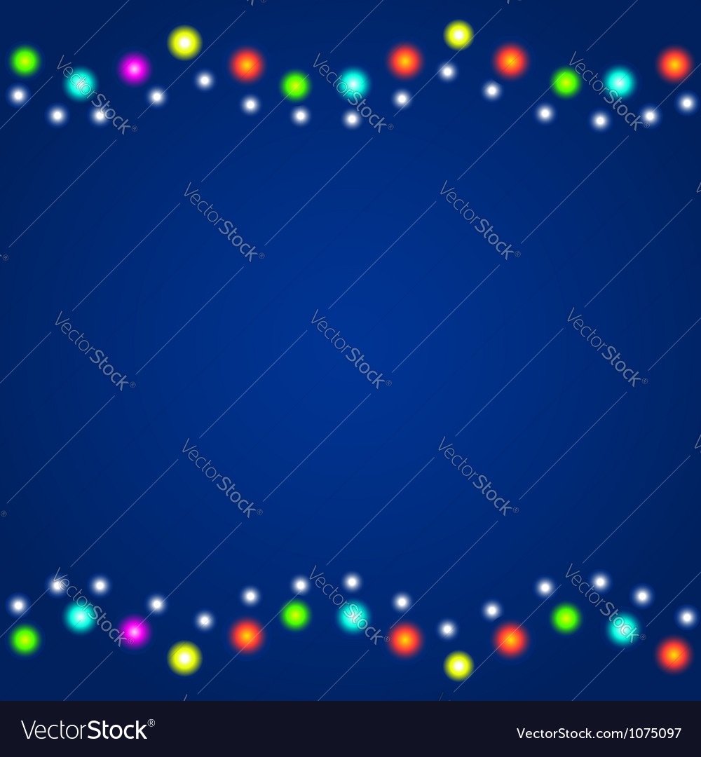 Background with colourful christmas lights vector | Price: 1 Credit (USD $1)