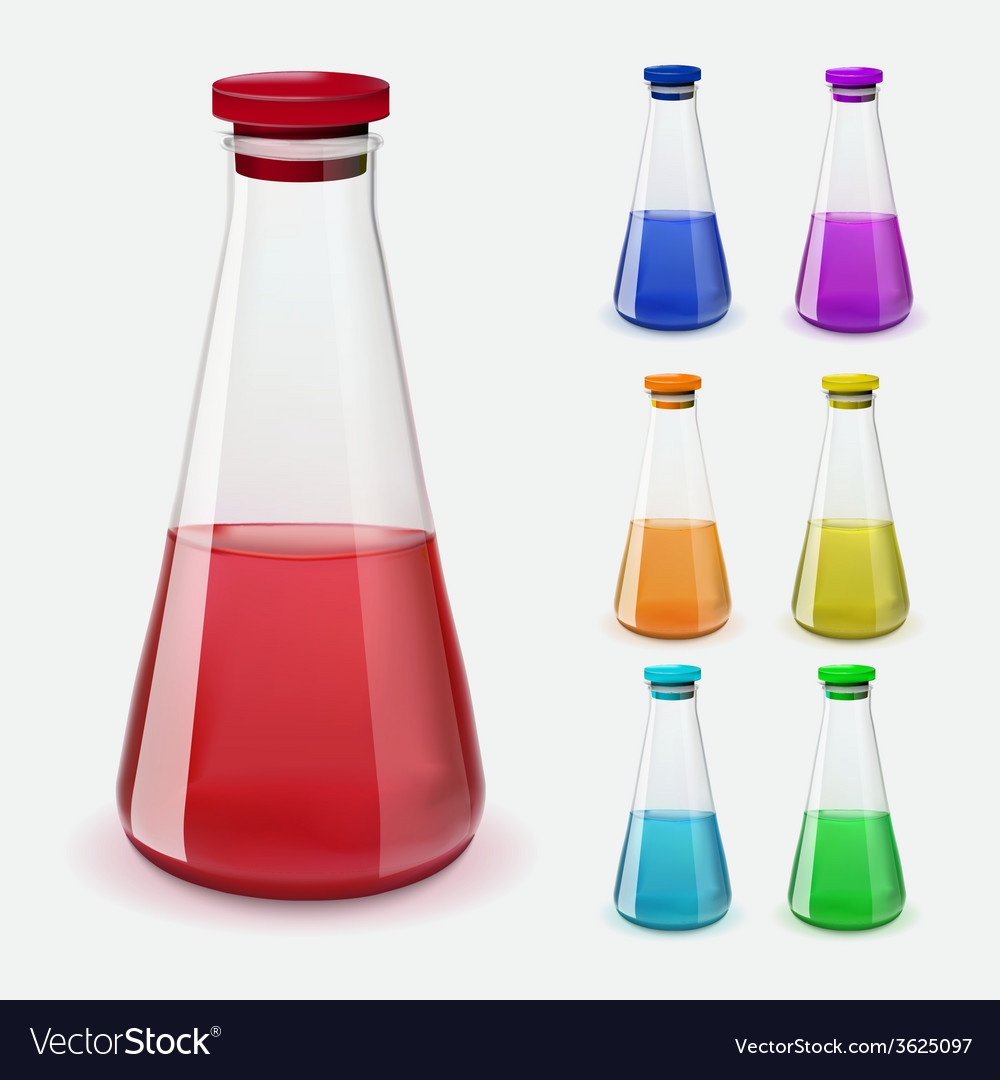 Bottles of potion vector | Price: 1 Credit (USD $1)