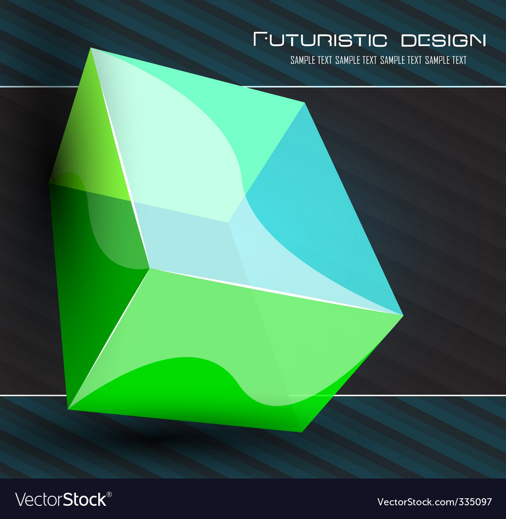 Futuristic dimensional design vector | Price: 1 Credit (USD $1)