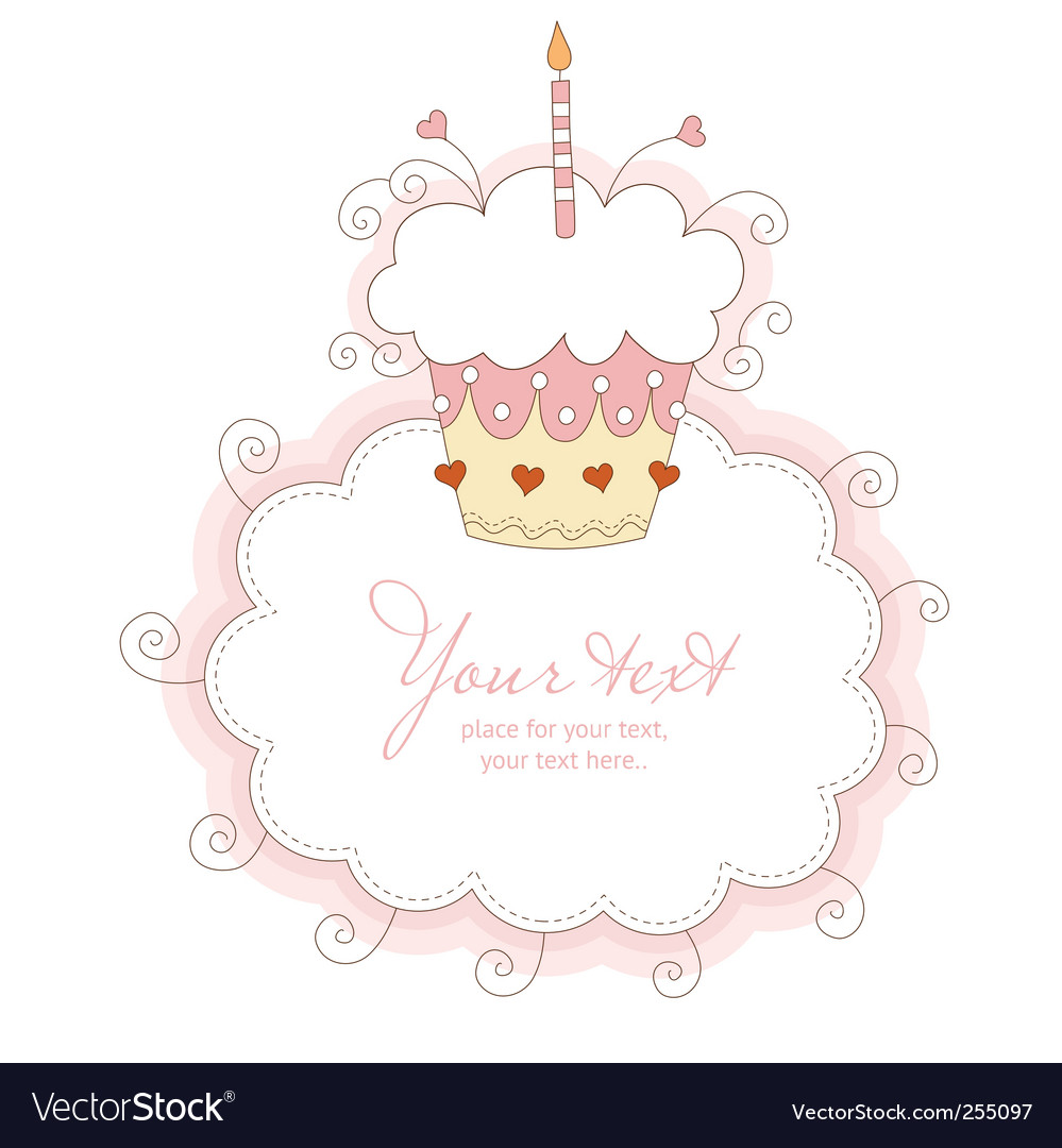 Happy first birthday vector | Price: 1 Credit (USD $1)