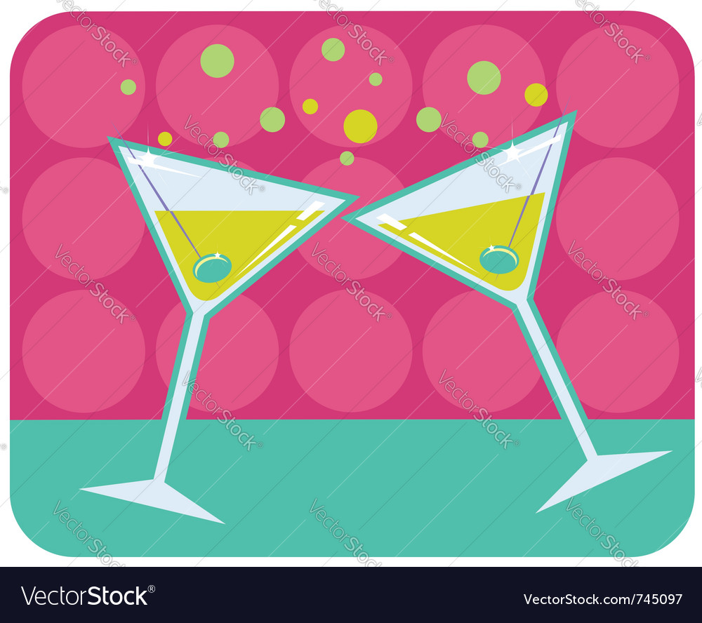 Martinis with olives vector | Price: 1 Credit (USD $1)
