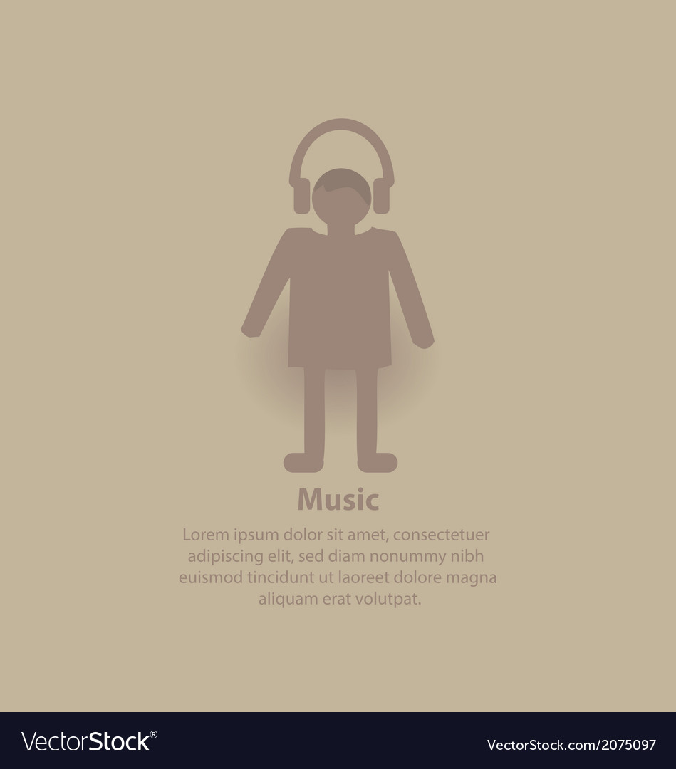 Music man backround vector | Price: 1 Credit (USD $1)