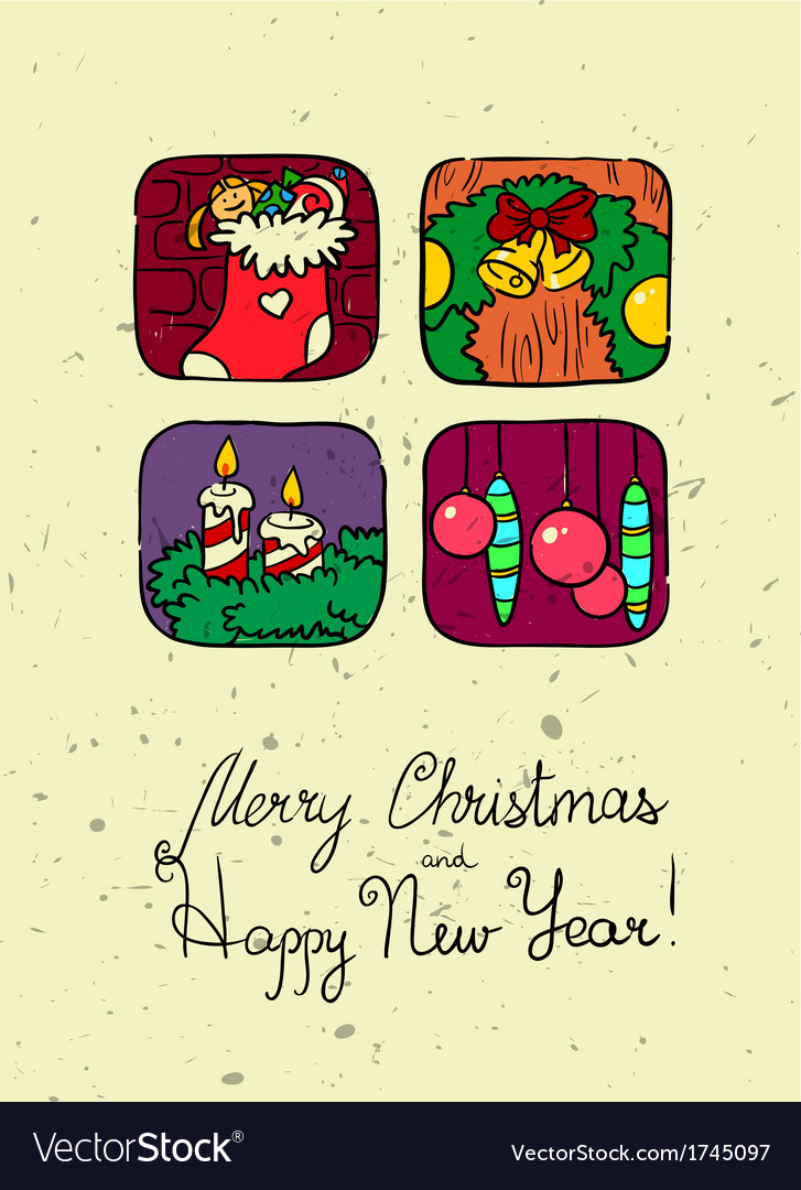New year poster vector | Price: 1 Credit (USD $1)