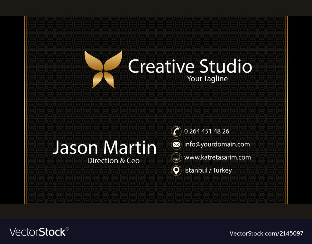 Prestige business card vector | Price: 1 Credit (USD $1)