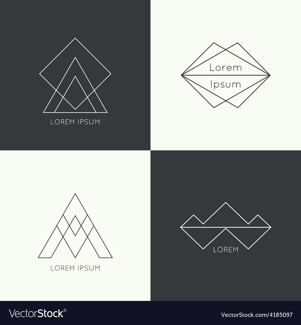 Set of hipster logo vector | Price: 1 Credit (USD $1)
