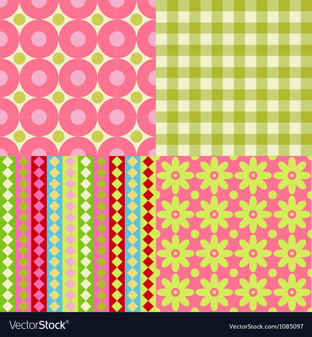 Set of scrapbook backgrounds vector | Price: 1 Credit (USD $1)