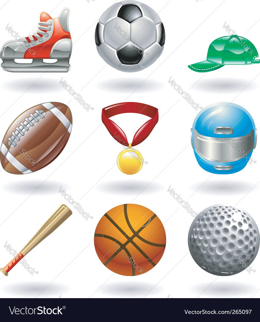 Sports icon set vector | Price: 3 Credit (USD $3)