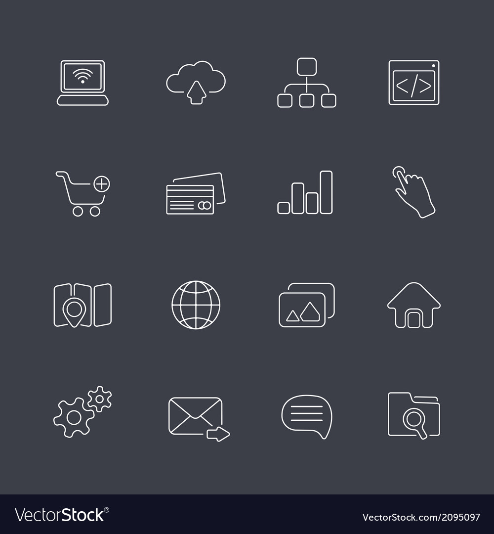 Thin outline icons vector | Price: 1 Credit (USD $1)