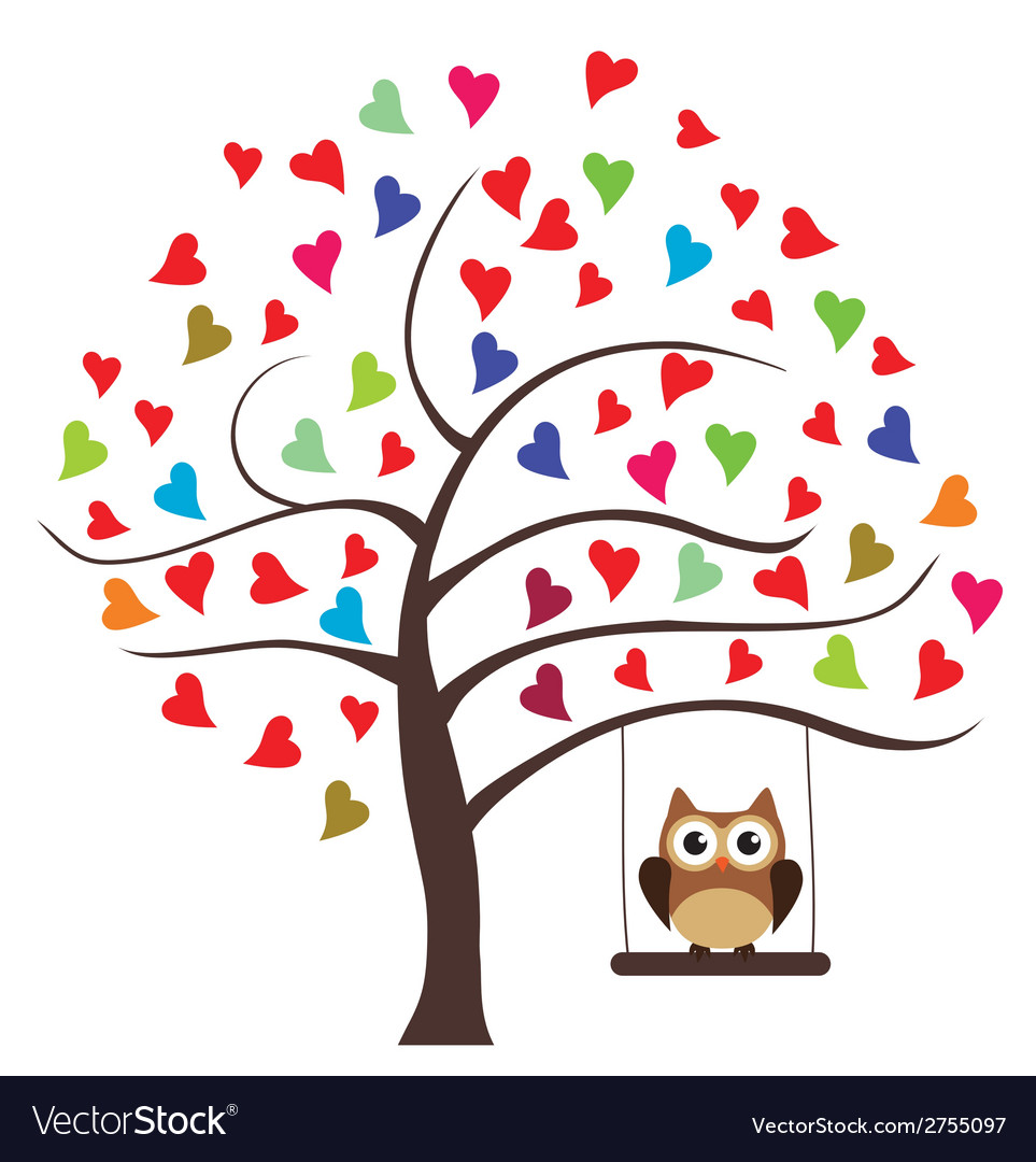 Tree floral owl vector | Price: 1 Credit (USD $1)