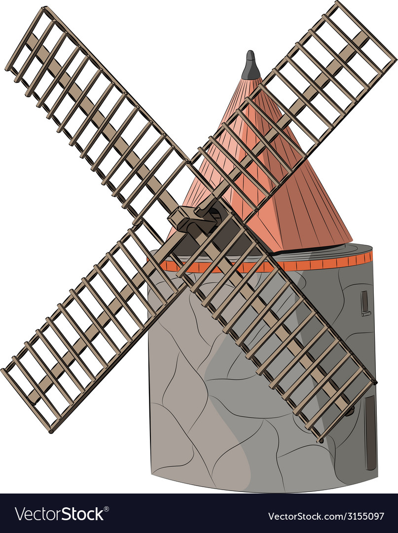 Windmill a vector | Price: 1 Credit (USD $1)