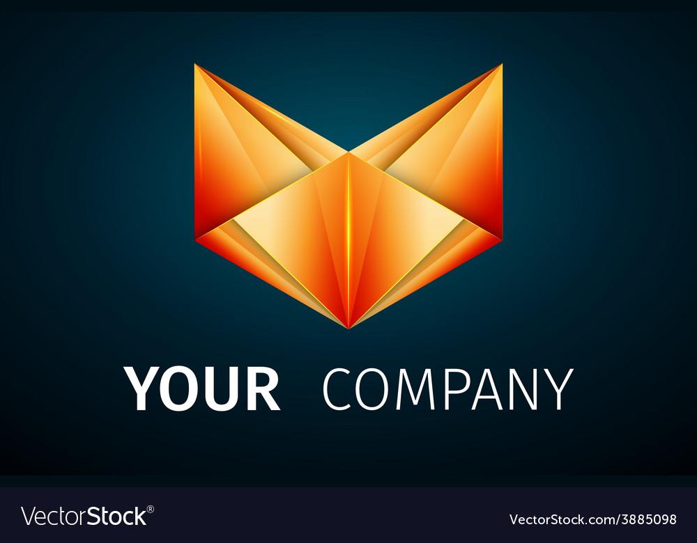 Abstract logo fox vector | Price: 1 Credit (USD $1)