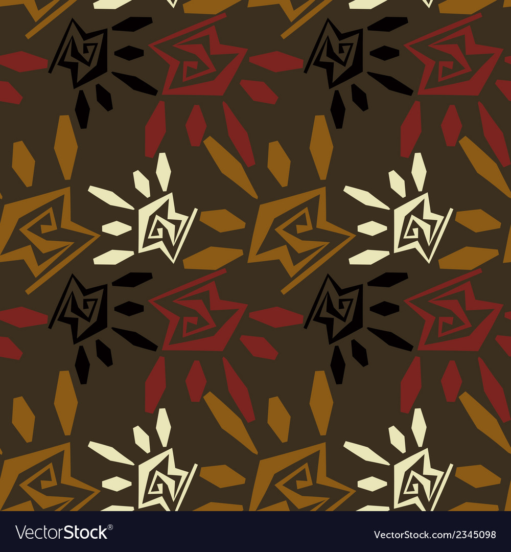 Abstract seamless texture in tribal style vector | Price: 1 Credit (USD $1)