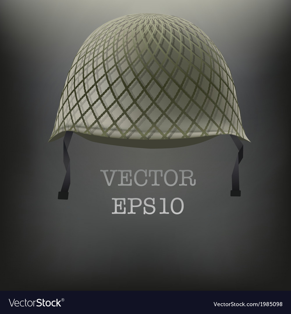 Background of military green helmet vector | Price: 1 Credit (USD $1)