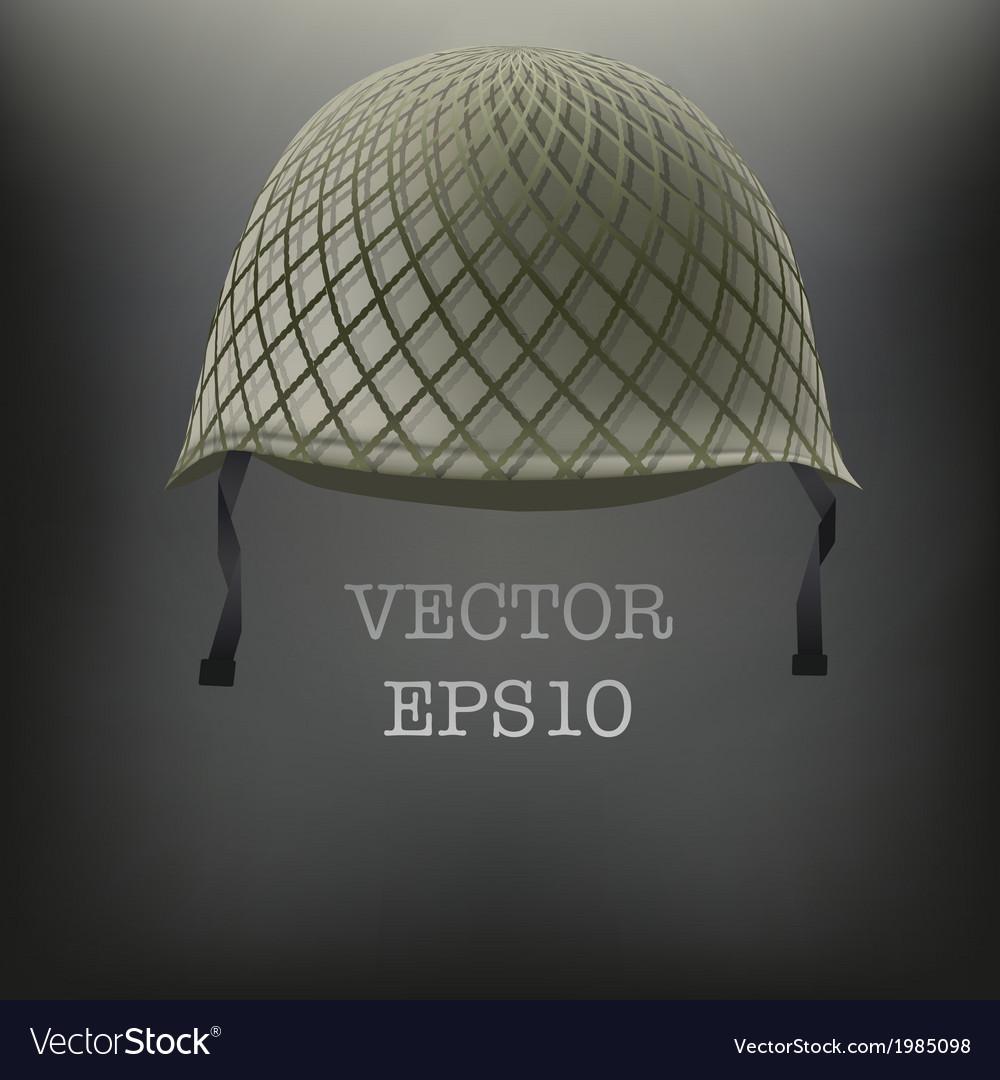 Background of military green helmet vector   Price: 1 Credit (USD $1)