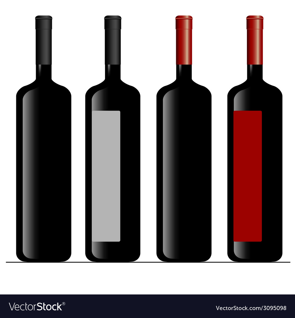 Bottle of wine color vector | Price: 1 Credit (USD $1)