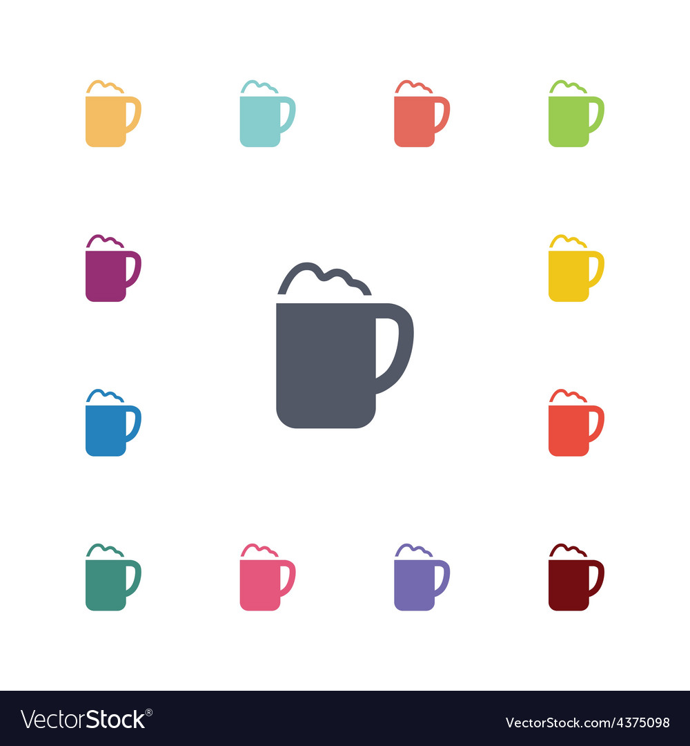 Cappuccino flat icons set vector | Price: 1 Credit (USD $1)