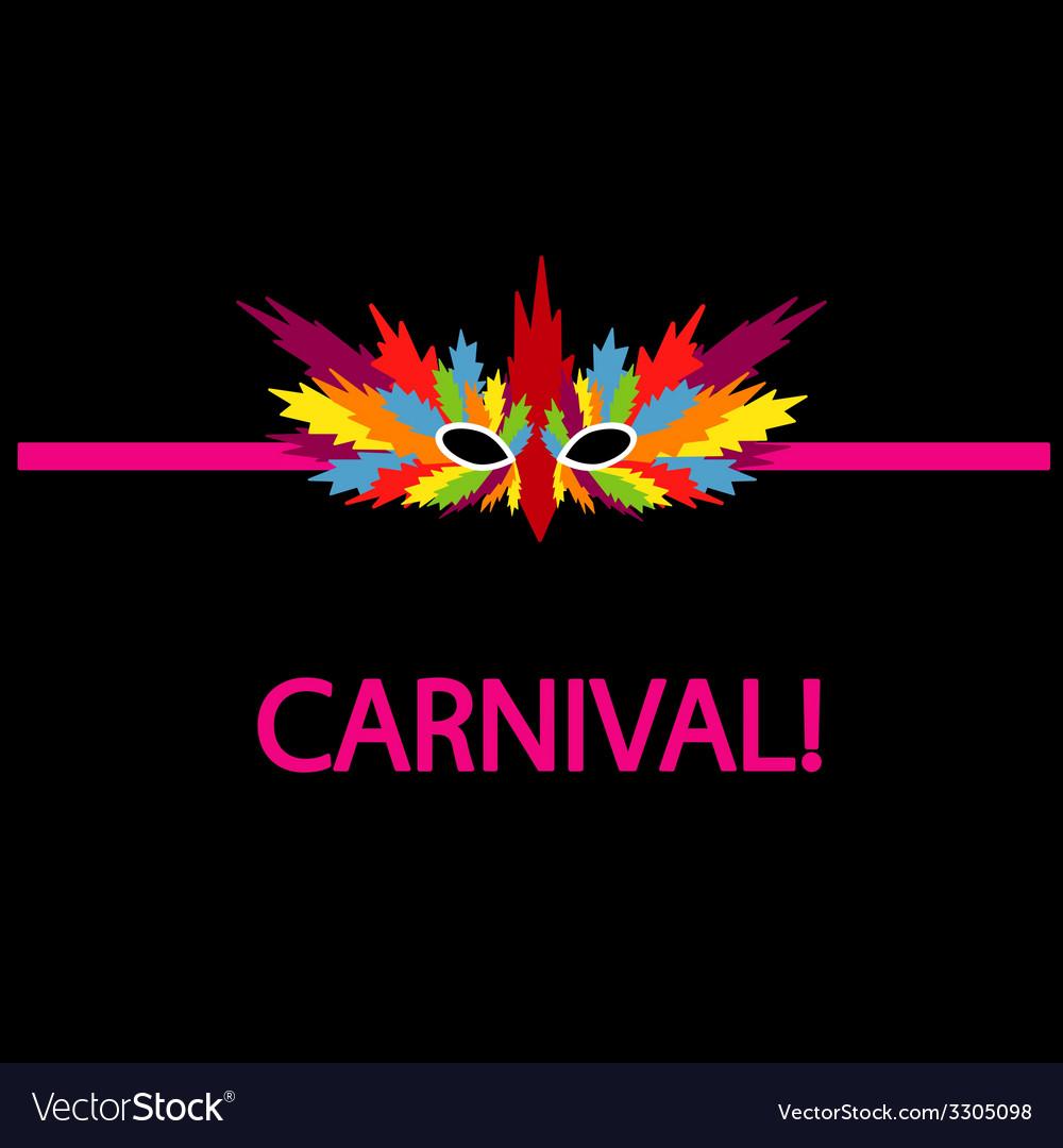 Carnival mask coloful vector | Price: 1 Credit (USD $1)