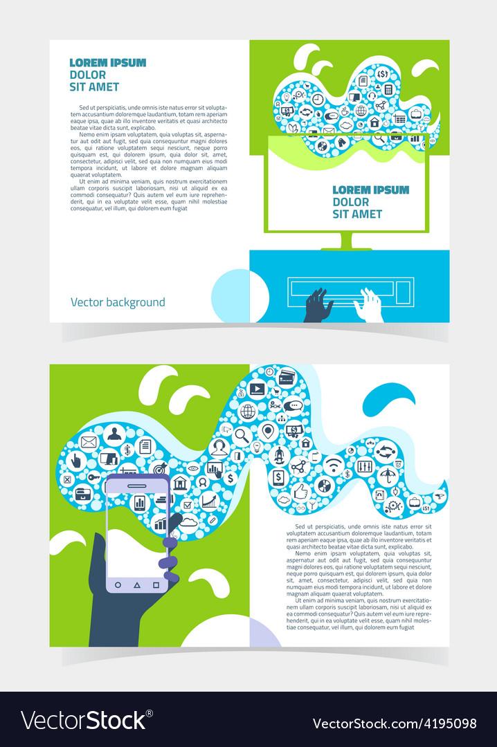Flyer leaflet booklet layout editable design vector | Price: 1 Credit (USD $1)