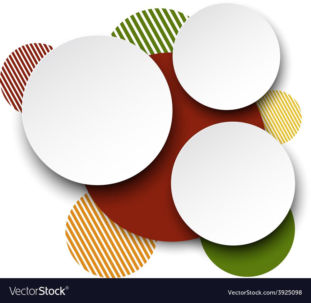 Paper white round speech bubbles vector   Price: 1 Credit (USD $1)