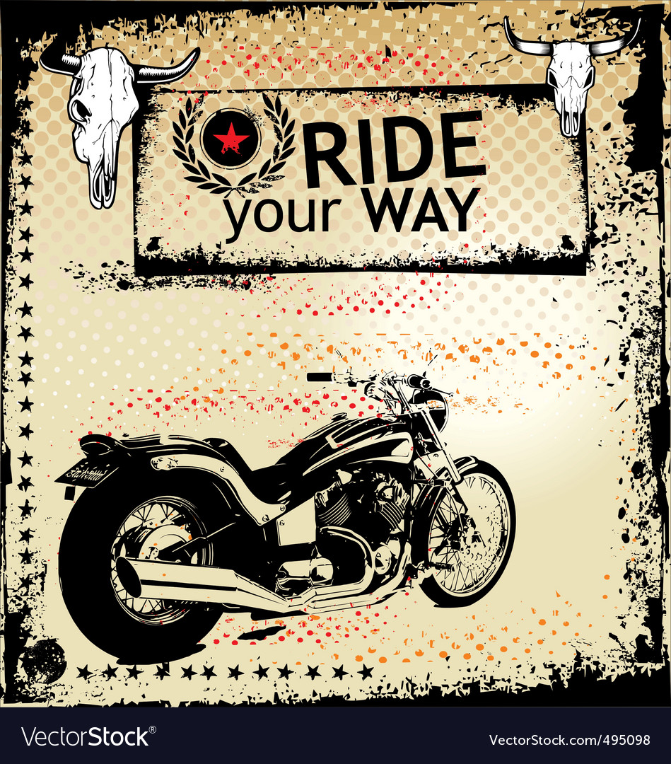 Ride your way background vector | Price: 1 Credit (USD $1)