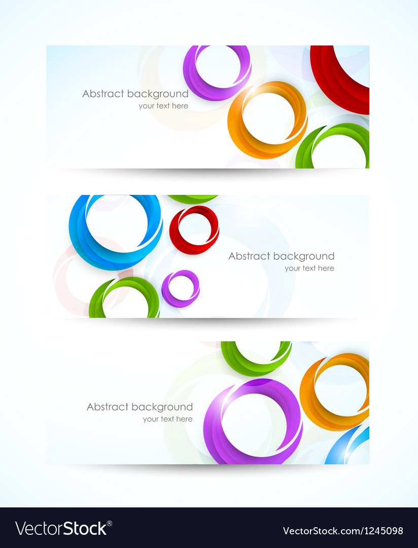 Set of banners with circles vector   Price: 1 Credit (USD $1)