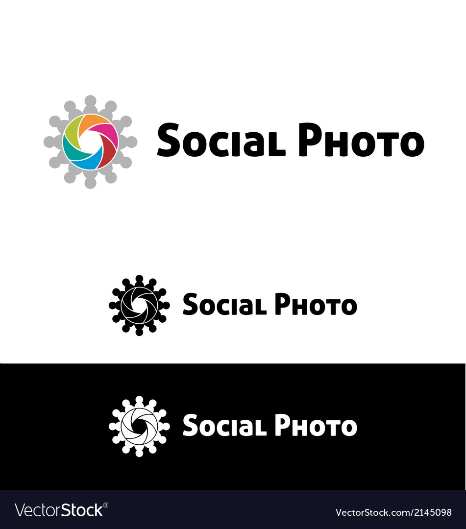 Social photo vector | Price: 1 Credit (USD $1)