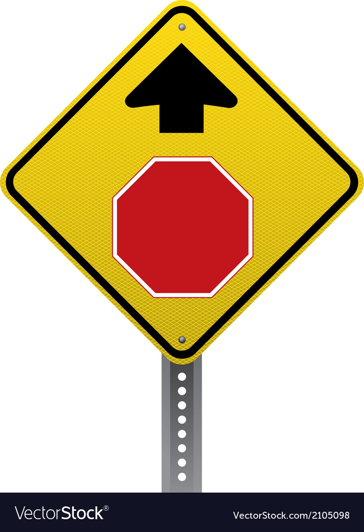 Stop ahead sign vector | Price: 1 Credit (USD $1)