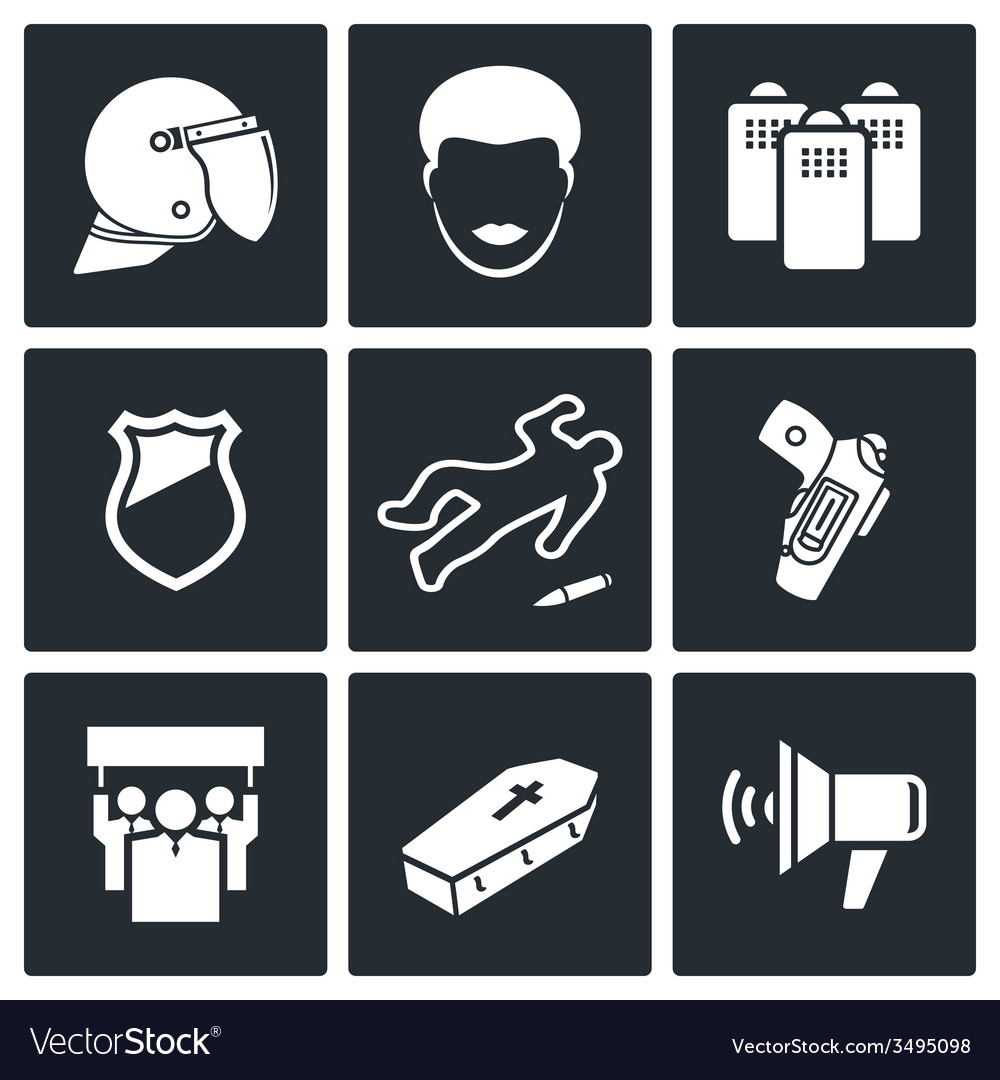 Strike after killing icon set vector | Price: 1 Credit (USD $1)