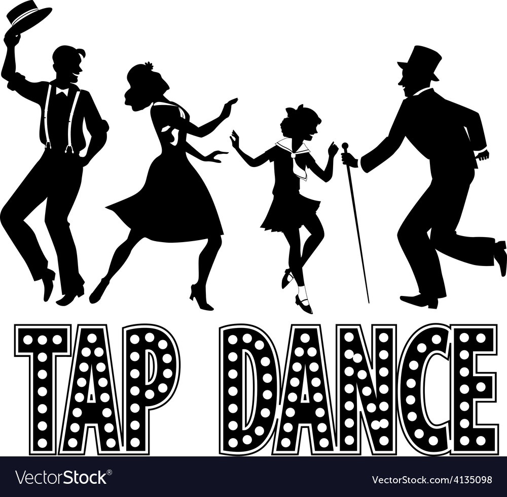 Tap dance silhouette banner vector | Price: 1 Credit (USD $1)