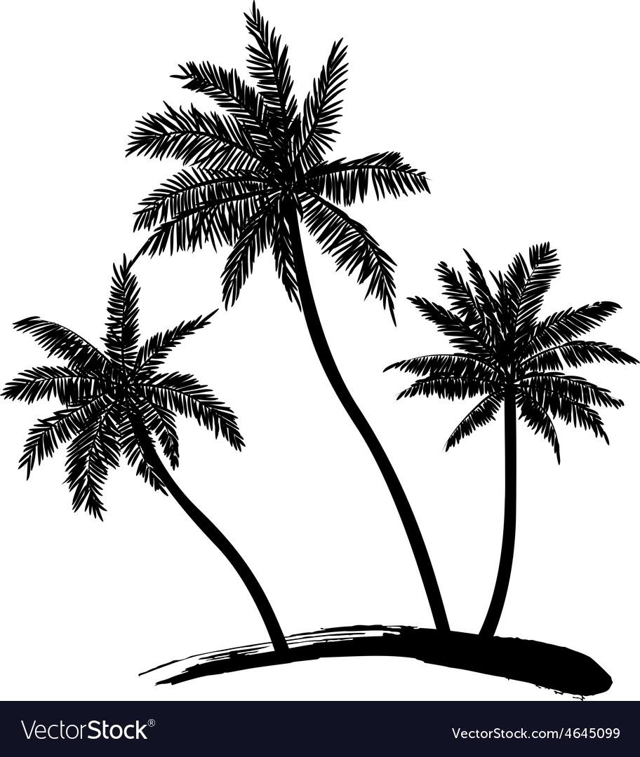 Coconut tree vector | Price: 1 Credit (USD $1)