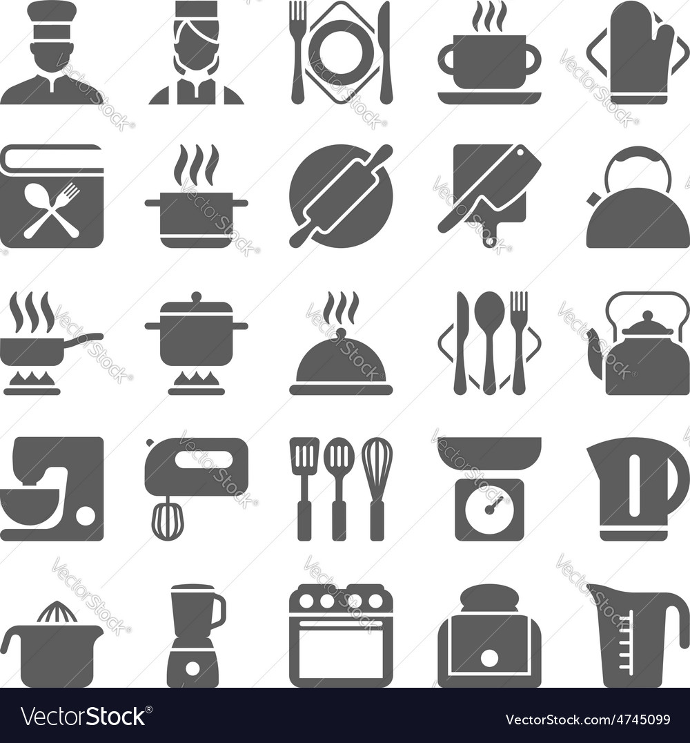 Cooking and kitchen icons vector | Price: 1 Credit (USD $1)