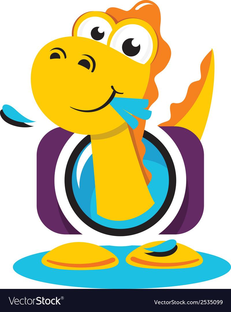 Dinosaur photographer logo vector   Price: 1 Credit (USD $1)