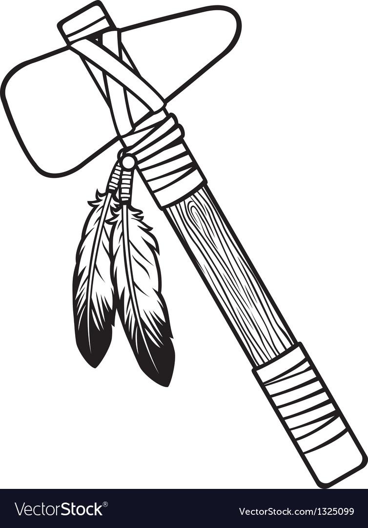 Native american tomahawk vector | Price: 1 Credit (USD $1)