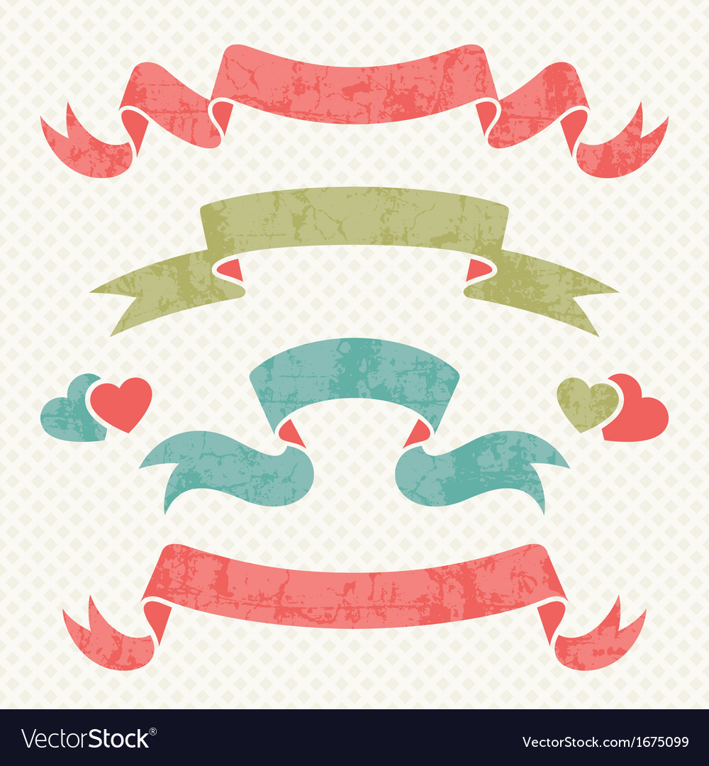 Retro ribbons vector | Price: 1 Credit (USD $1)
