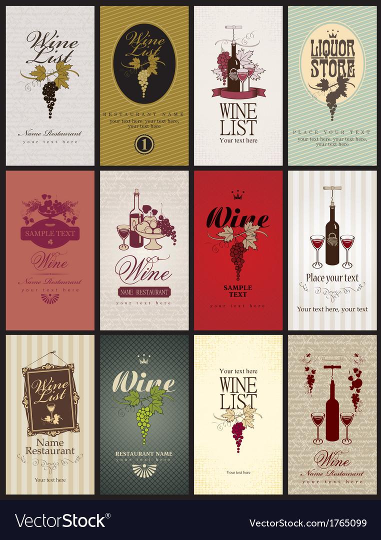 Set wine vector | Price: 3 Credit (USD $3)
