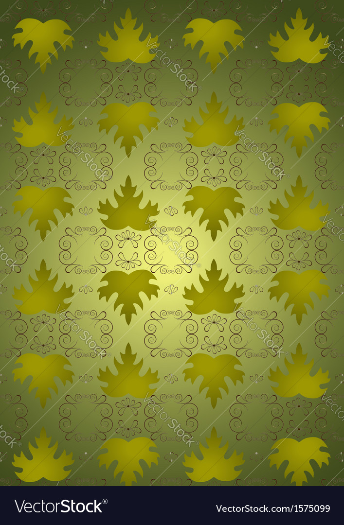 Shiny seamless background leaves vector | Price: 1 Credit (USD $1)