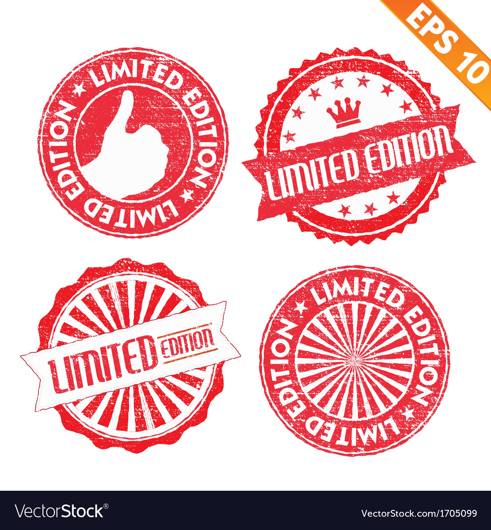 Stamp sticker limited edition collection - vector | Price: 1 Credit (USD $1)