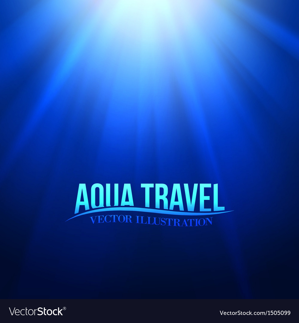 Underwater sunrays for aqua travel design vector | Price: 1 Credit (USD $1)