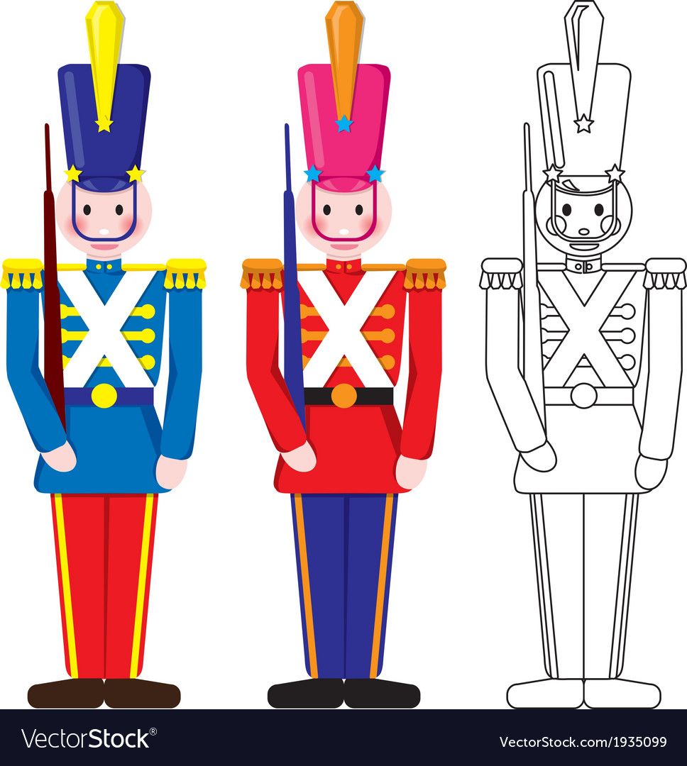 Vintage happy toy soldier vector | Price: 1 Credit (USD $1)