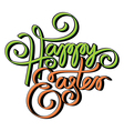 Happy easter hand lettering hand calligraphy vector