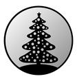 Christmas tree button vector