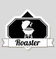 Roaster design vector
