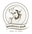 Smokers club vector